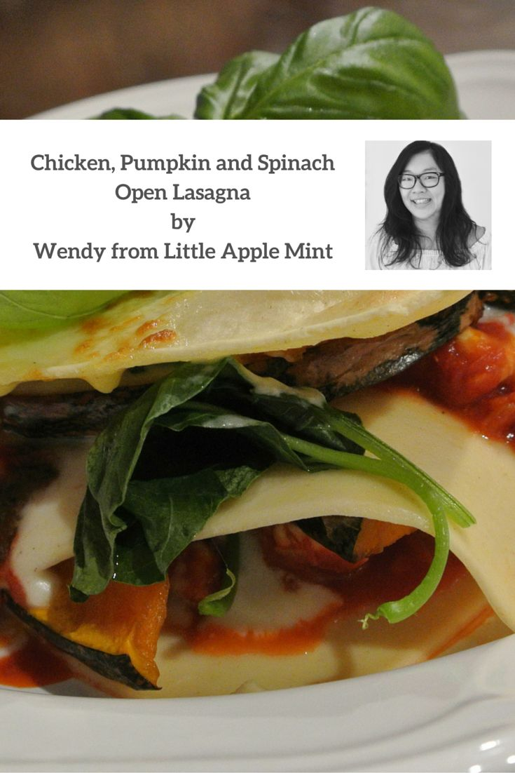 This Chicken, Pumpkin and Spinach Lasagna is a great way to feed the family. Nutritious, healthy and bursting with flavour, this lasagna is a meal the kids will LOVE!