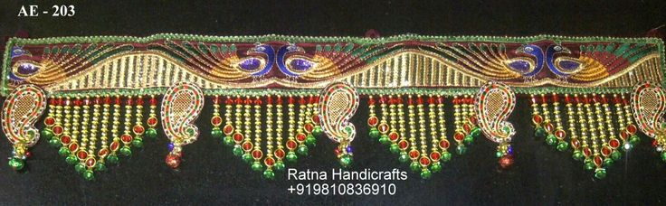 1000 images about embroidery torans khalyks on for Diwali decoration material