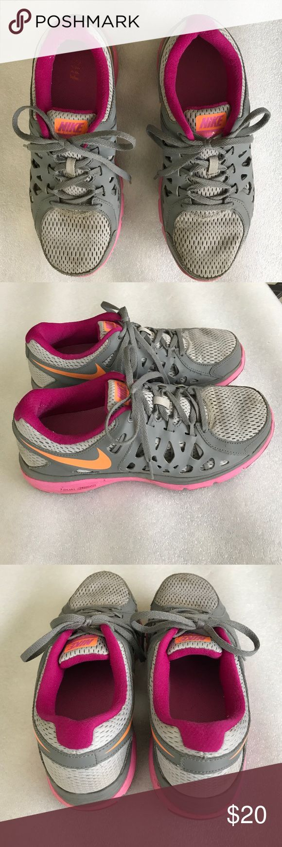 Nike Dual Fusion Cute worn about 3 times NIKE Shoes Athletic Shoes