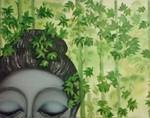 '' greenly peace''..the title of this oil painting which is one of my favourite pass time activities..:)