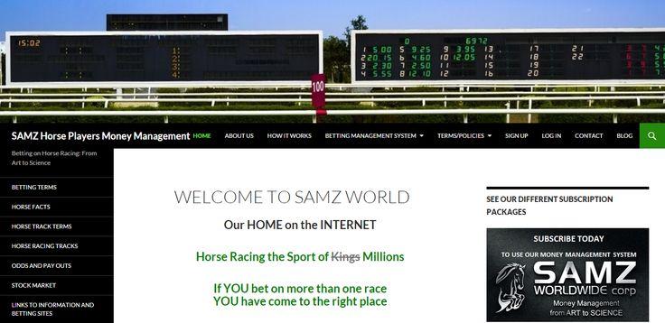 website for horse racing money management
