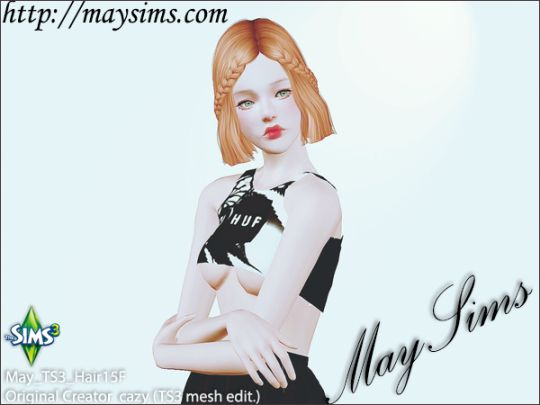 Mayims: Sims 3 Hair - May_TS3_Hair15F
