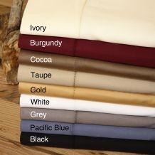 Andiamo Solid 500 Thread Count Egyptian Cotton Sheet Set  $49.99