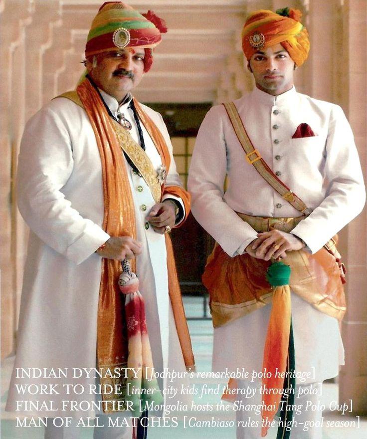 Maharaja Gaj Singh with Shivraj