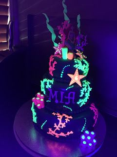Kiwi Cakes: Glow in the dark cake - from Kiwicaker Sonja Bodley