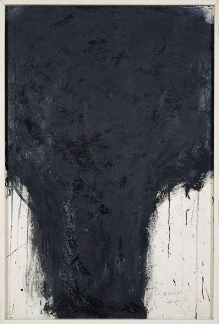Arnulf Rainer – Kreuz, 1956-1981; Öl auf Leinwand, 135x90 cm