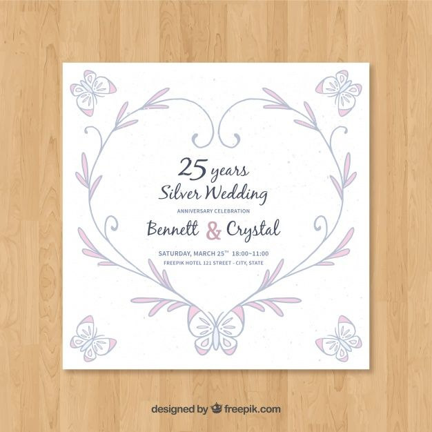 Download Wedding Anniversary Card With Ornaments For Free Wedding Anniversary Cards Silver Wedding Anniversary Wedding Anniversary