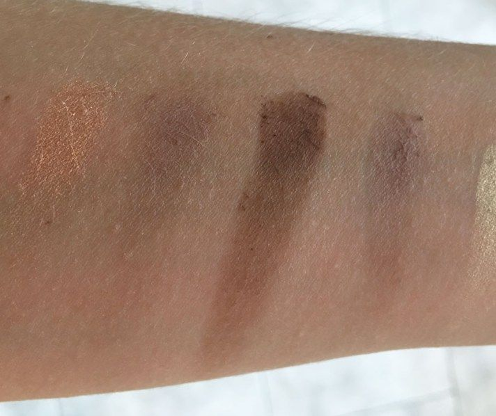 I Heart Makeup Naked Chocolate review swatches 3