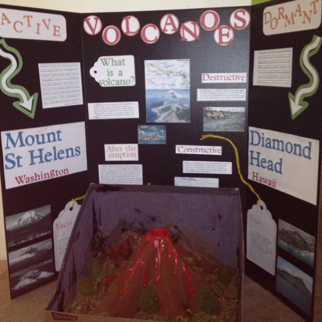 Science fair idea - Volcano project