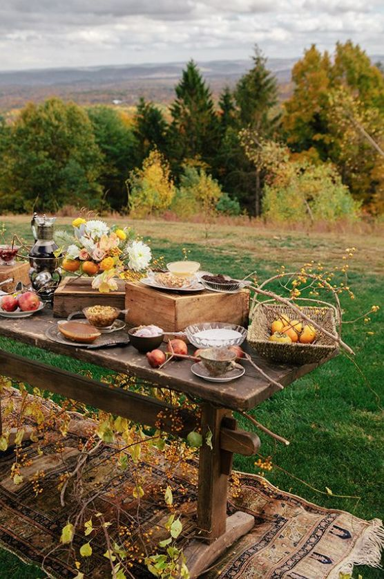 An autumn picnic would be fun!