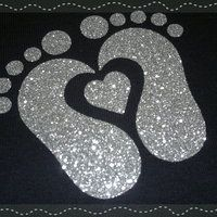 baby feet, glitter, suuuuper cute