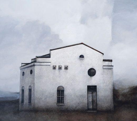 Suljettu / Closed  Akryyli kankaalle / Acrylic on canvas, 2011  90 x 100 cm  Valokuva / photo: Mikko Auerniitty  Yksityiskokoelmassa / In private collection