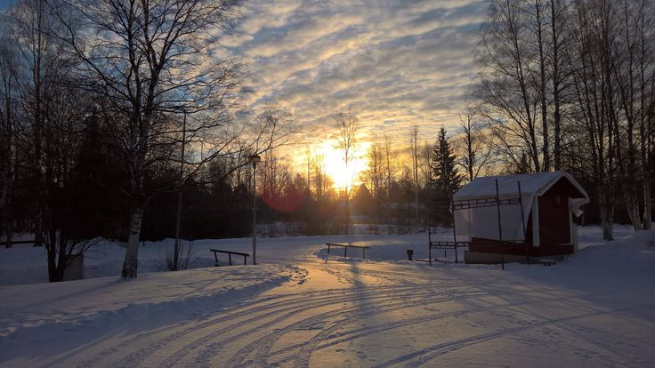 Early morning in Pieksämäki, Finland [OC] [5344x3008px]