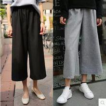 S m l xl vendita calda 2015 di estate di nuovo modo della signora gamba larga chiffon pantaloni lunghi sciolti culottes donne pantaloni  (China (Mainland))