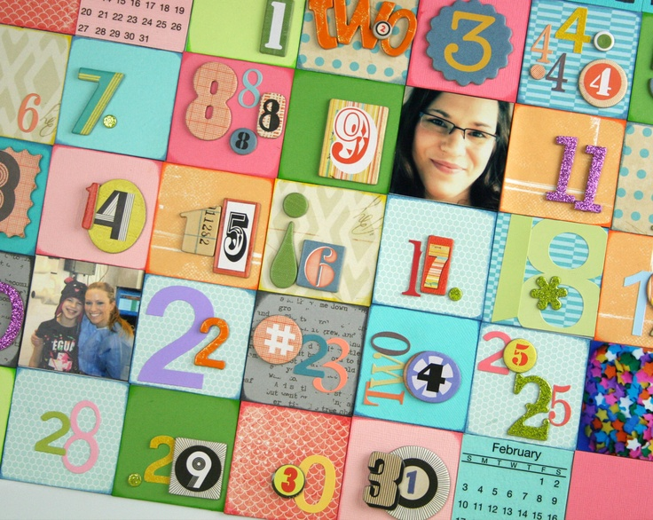 Create an interactive family calendar with magnets! www.fiskars.com