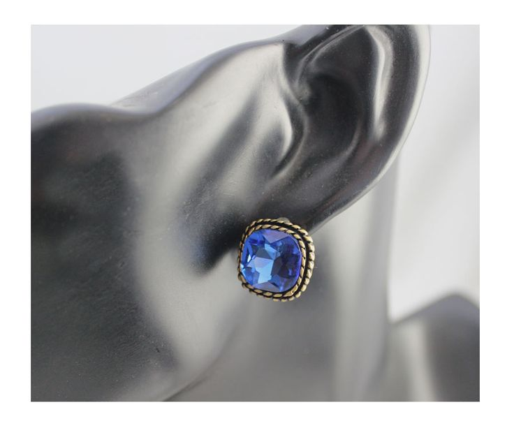 FOREVER 21 Pale Blue Glass Crystal Earrings 3313 - EC Chic Fashion Online Store worldwide Free Shipping