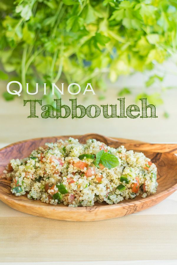 Quinoa Tabbouleh is the perfect vegan meal covering all nutritional and gourmet needs of your body! Enjoy the scent of herbs spreading in your kitchen!