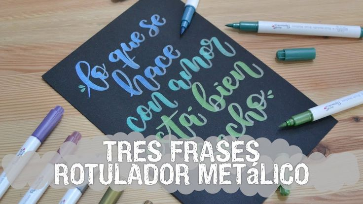 Lettering con rotuladores metálicos - UGDT