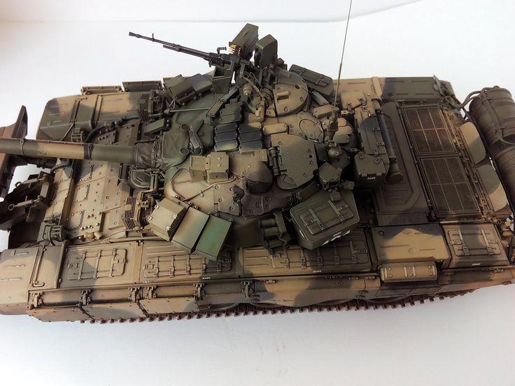 Т-90 с ТБС 86 — Каропка.ру — стендовые модели, военная миниатюра