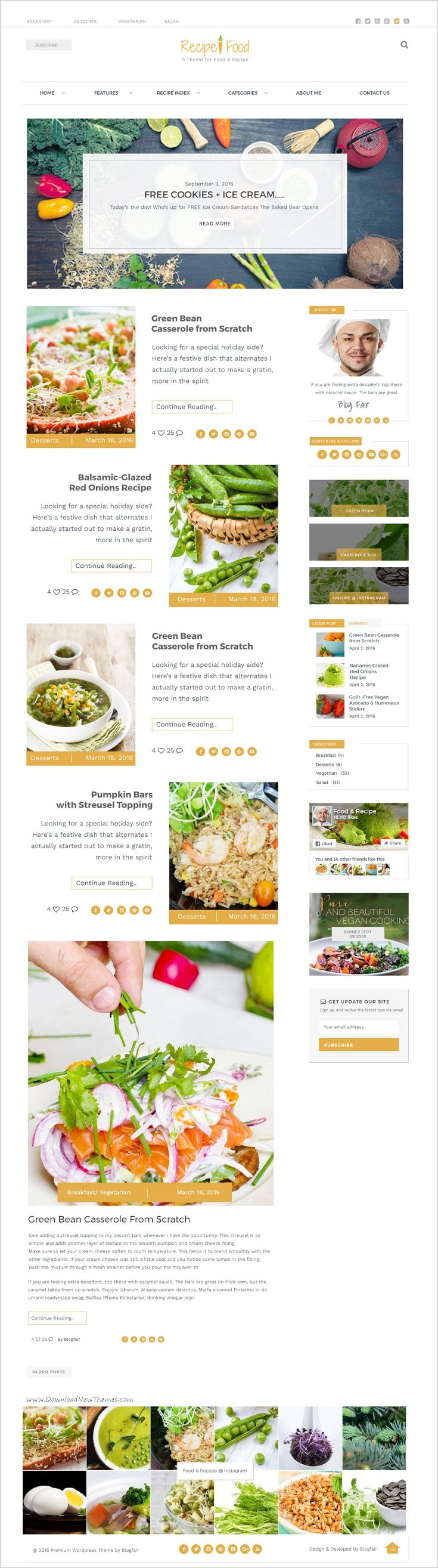 Food & Recipes is a feature rich and beautifully designed #PSD theme for #food and #recipes related #websites download now➩ https://themeforest.net/item/food-recipe-psd-template/18707860?ref=Datasata
