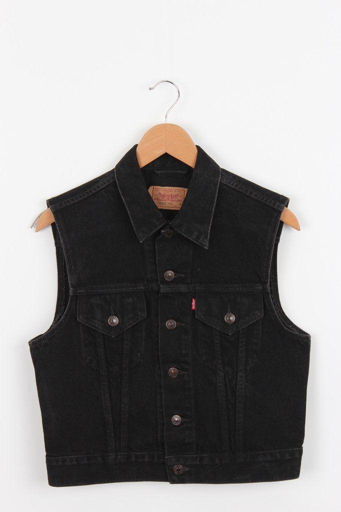 Levi's Sleeveless Denim Jacket. Ladies size S