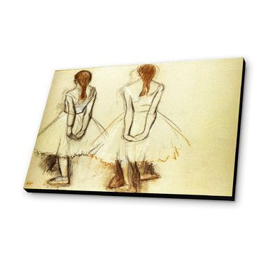Lamp-In-A-Box Ballerinas Drawing by Edgar Degas Painting Print Plaque