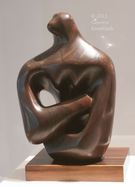 henry moore figure 1932 lignum vitae with wood base front umma 1953 modern sculpture. Black Bedroom Furniture Sets. Home Design Ideas