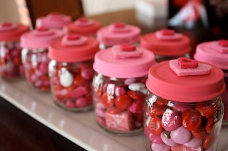 Reuse jars for gifts....change out candy for holiday or theme.