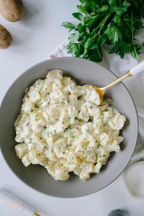 Salada de Batata com Maionese Caseira | http://vaicomeroque.com.br/saladadebatata/