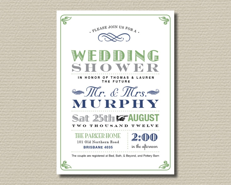 Printable Couples Wedding Shower Invitation