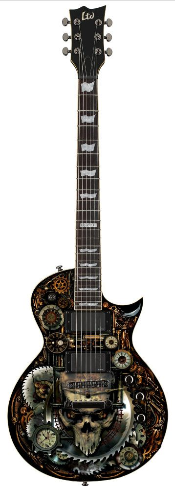 ESP LTD EC-CLOCKWORK ZOMBIE-II GRAPHIC ELECTRIC GUITARS GUITAR  LEC-CZ2 #esp…