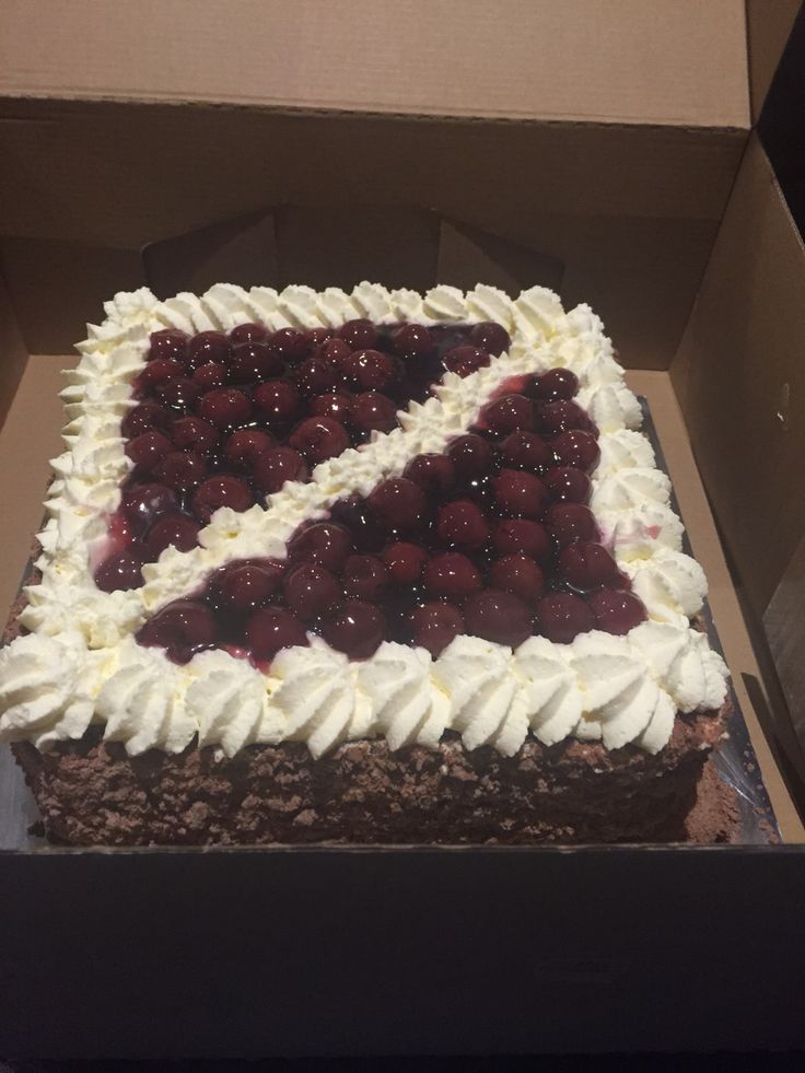 Traditional English fresh cream black Forrest gateau