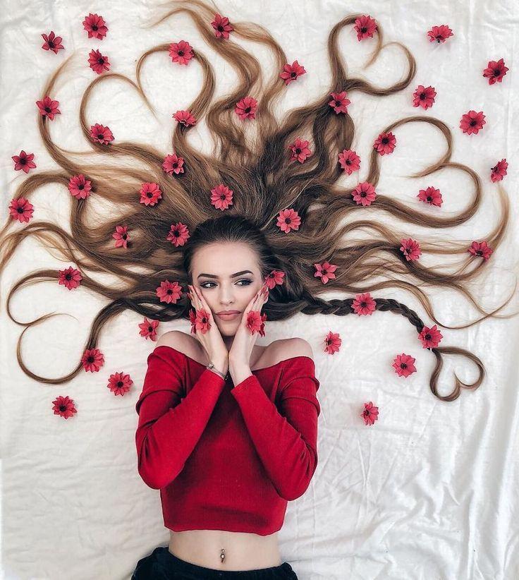 Die Künstlerin arrangiert fantastische Fotoshootings, die die Schönheit ihres Haares zur Schau stellen – #arrangiert #die #fantastische #Fotoshootin…