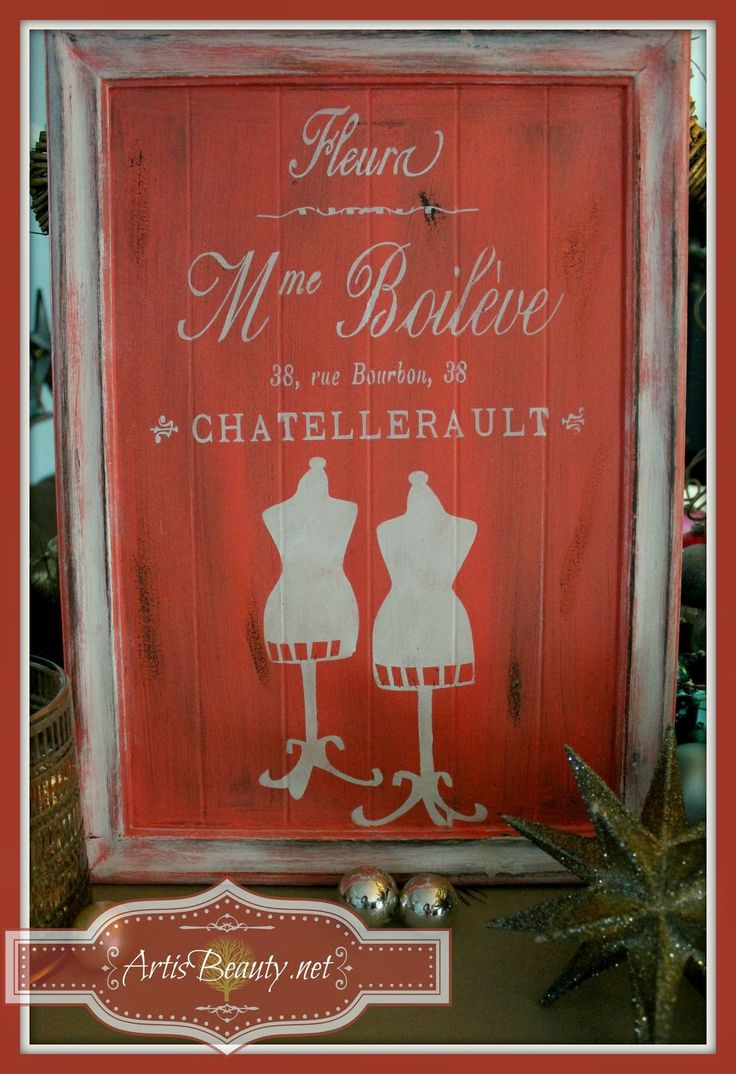 Hometalk easy cabinet door projects - French Invoice Mme Boileve Sign Made From Free Cupboard Door Diy Diy Home Crafts Repurposing Upcycling The Finished French Invoice Sign