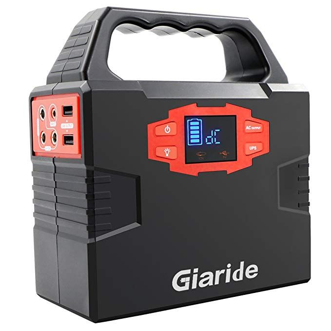 Giaride Portable Generator 150wh Solar Power Inverter 40800mah Battery Pack Camping Cpap Emergency Ups Power Station Charged Solar Panel