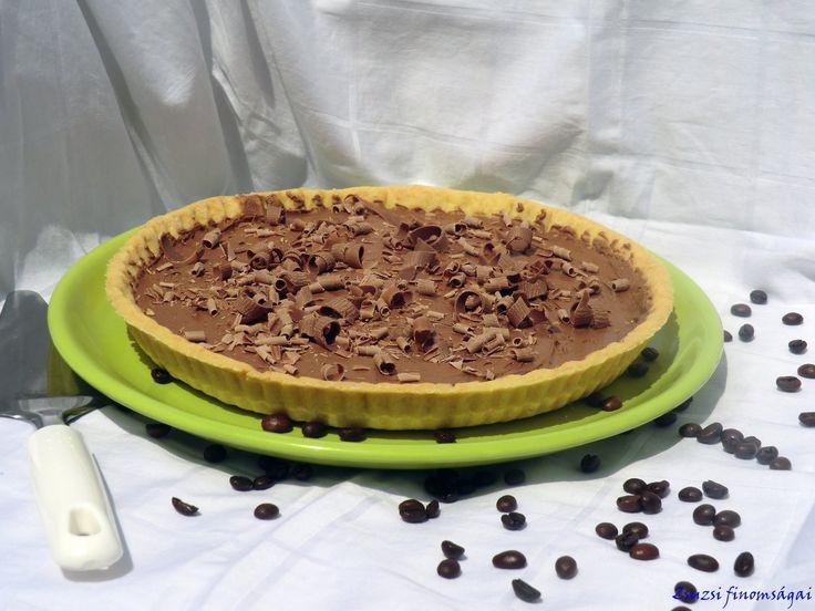 Kávé-csoki ganache-os pite