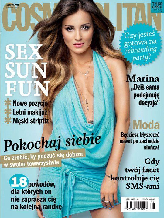 COSMOPOLITAN edycja polska / Marina Łuczenko / sierpień 2012    www.cosmopolitan.pl