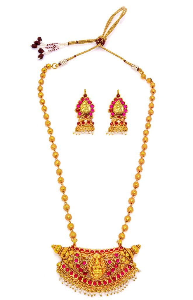 Attractive Pearl Necklace in golden colour. Occasion: Wedding & Traditional wear Shop Now:https://goo.gl/eutnan