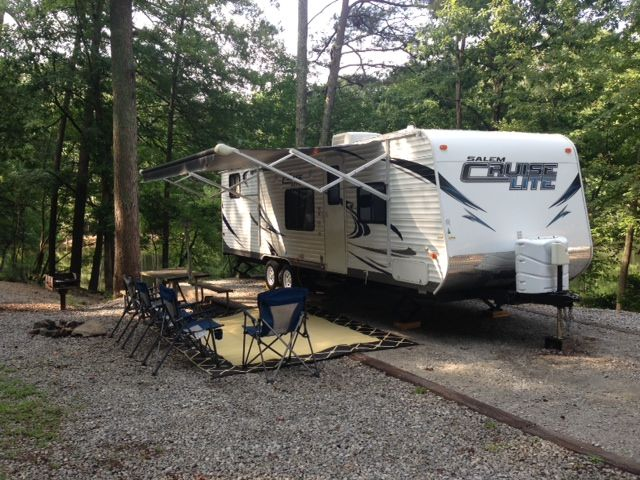 Grey Wolf 28BH On Campsite #335 At Stone Mountain Park Campground. | Valet  RV Rental, LLC   Grey Wolf 28BH | Pinterest | Mountain Park, Campsite And Rv