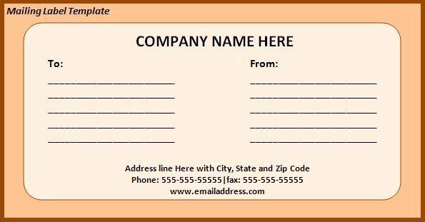 Free Return Address Label Template Lovely Free Printable Return