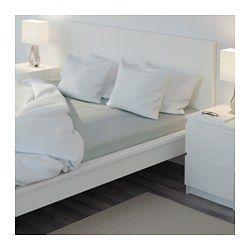 IKEA - NATTJASMIN, Drap-housse, Grand deux places, , Linge de lit satiné en lyocell et coton issu de la culture durable. Soyeux et présentant un bel aspect lustré.Le mélange coton/lyocell absorbe et évacue l'humidité corporelle et assure un sommeil au sec.Drap-housse pour matelas de 34 cm d'épaisseur maximum.