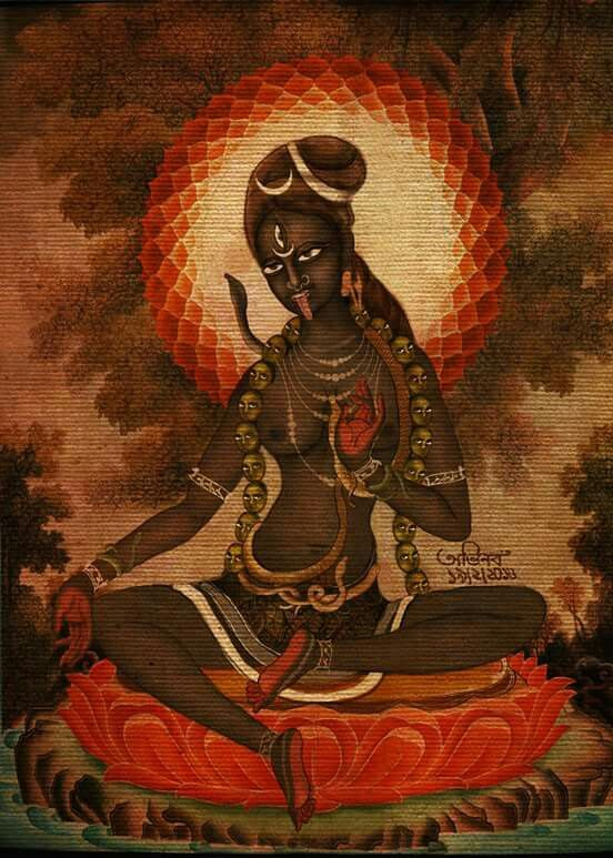 Shri Gujhya Kali Maa - i have never seen an illustration of the form of 'Guhya Kali' before!