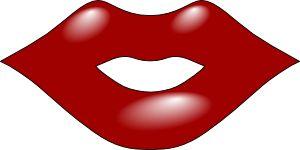 Red Lips clip art