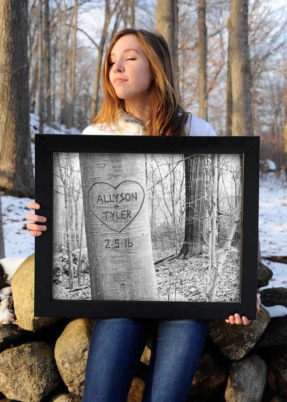 Title: Love Tree Custom Family Print Please dont hurt the trees! Instead, with our special technique, we will digitally carve whatever you wish into the beech tree in this original photograph. Plenty of room for names and/or dates. A romantic gift for the newlyweds or newly engaged! Add childrens names for a special Mothers Day or Fathers Day gift.  HOW TO ORDER: Choose size and add to cart. Please add personalization details in note to seller section during checkout. A proof of your photo…