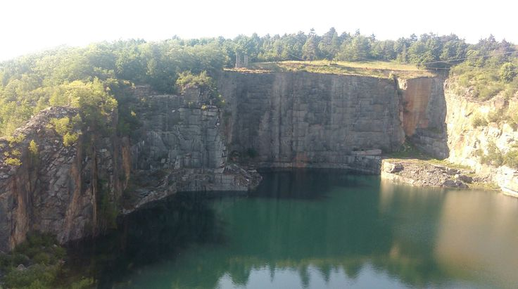 Quarry in nazi Concentration Camp,  Gross Rosen, Rogoźnica, Poland