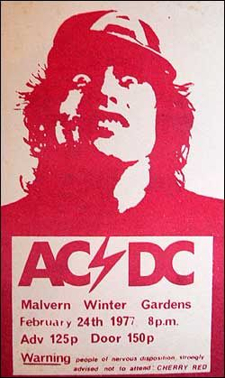 AC/DC Concert Poster 1977