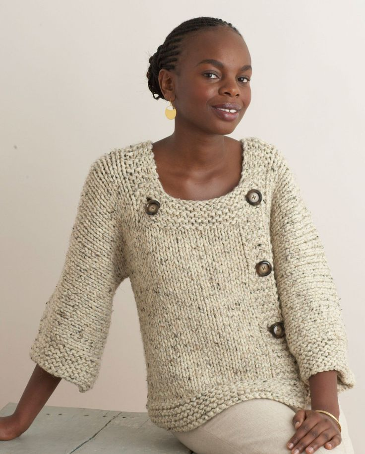 Free knitting pattern for Extra Easy Extra Fabulous Sweater