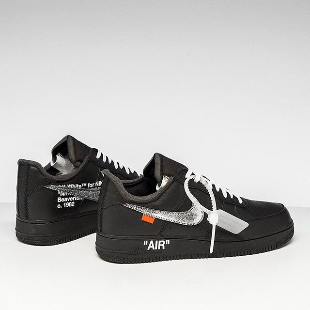 "Nike s Air Force 1 ""Off White x MoMA"" gets blacked out leather with  embroidered Metallic Silver Swooshes. . Enjoy FREE domestic ground shipping! 2d22ce030"