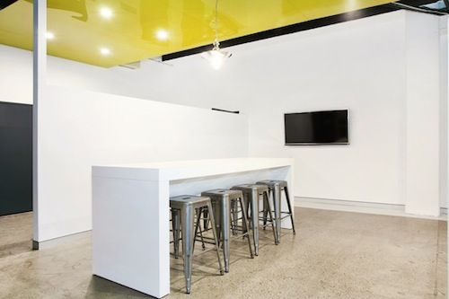 Combine our metallic stools with our white gloss bar table to create your very own office bar.  http://www.jpofficeworkstations.com.au/bar-stools/