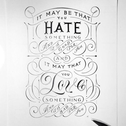 Typeverything com   Love   Hate lettering